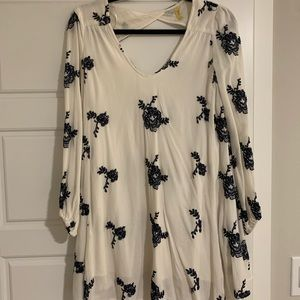 Free People Floral Embroider Dress